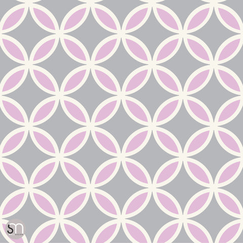 CIRCLE ME PINK - Peel & Stick Wallpaper