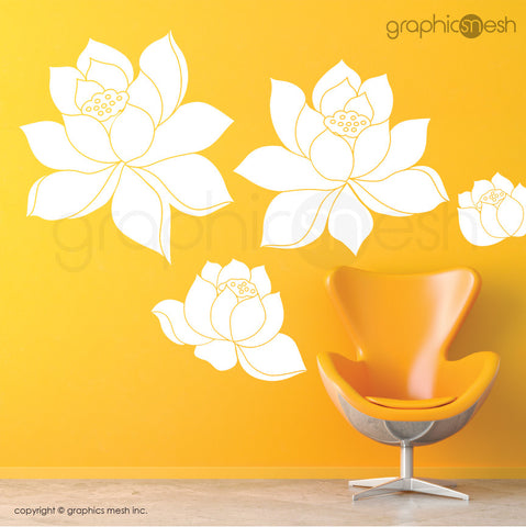 DAFFODIL FLOWERS SET - Wall Decals white vinyl