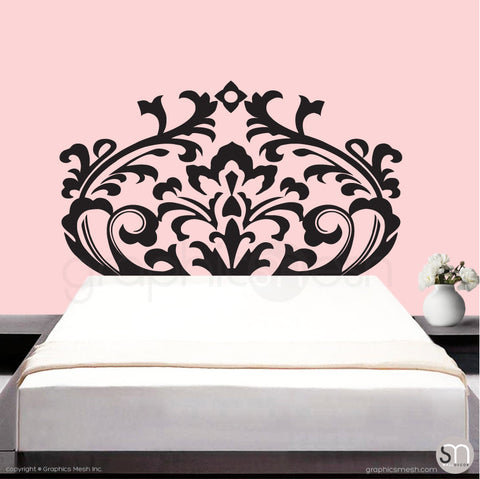 DAMASK HEADBOARD - Wall Decal black