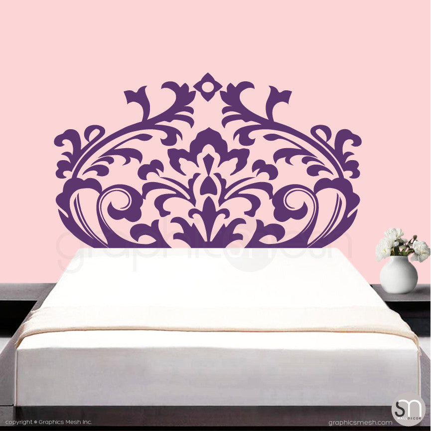... DAMASK HEADBOARD   Wall Decal Violet ... Part 67