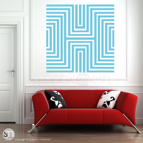 DIAMOND OPTICAL ILLUSION - Oversized Wall Decal sea blue