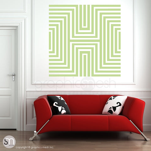 DIAMOND OPTICAL ILLUSION - Oversized Wall Decal key lime pie