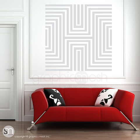 DIAMOND OPTICAL ILLUSION - Oversized Wall Decal light grey