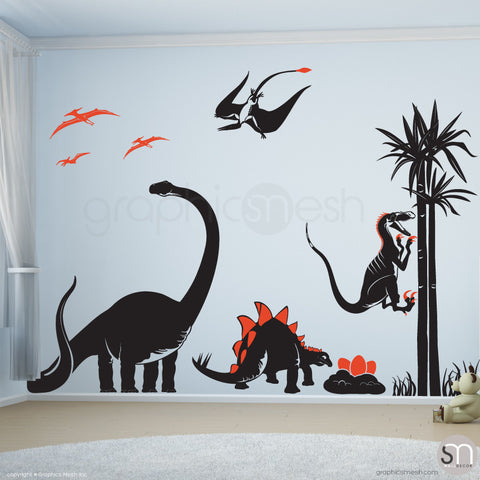 Dinosaur world Jurassic Park Black & Orange