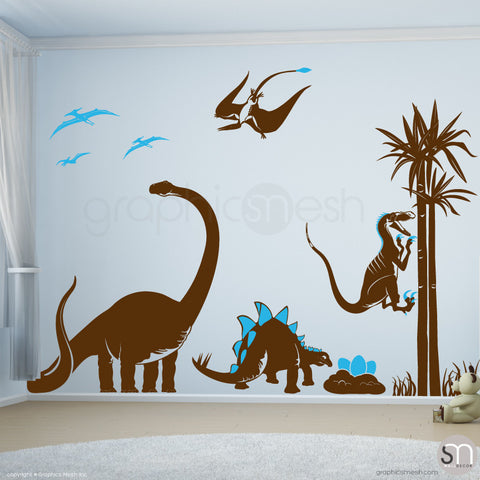 Dinosaur world Jurassic Park Brown BLue