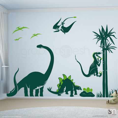 Dinosaur world Jurassic Park Dark Green Lime