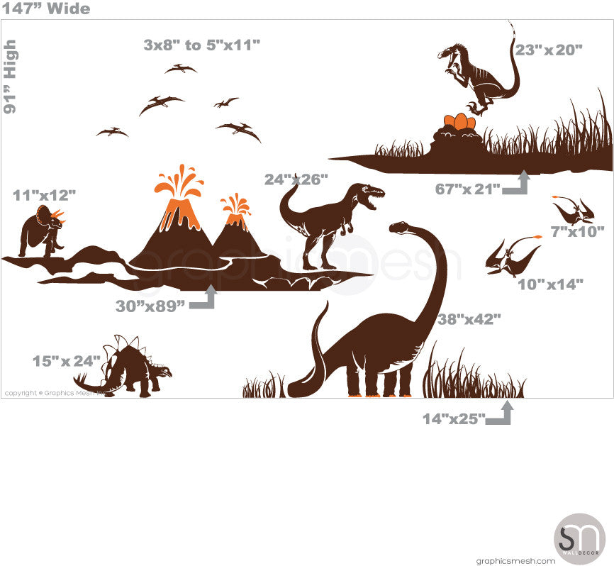 Dinosaur world sizes
