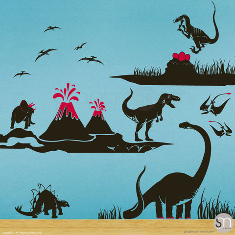 Dinosaur world Jurassic Park decals