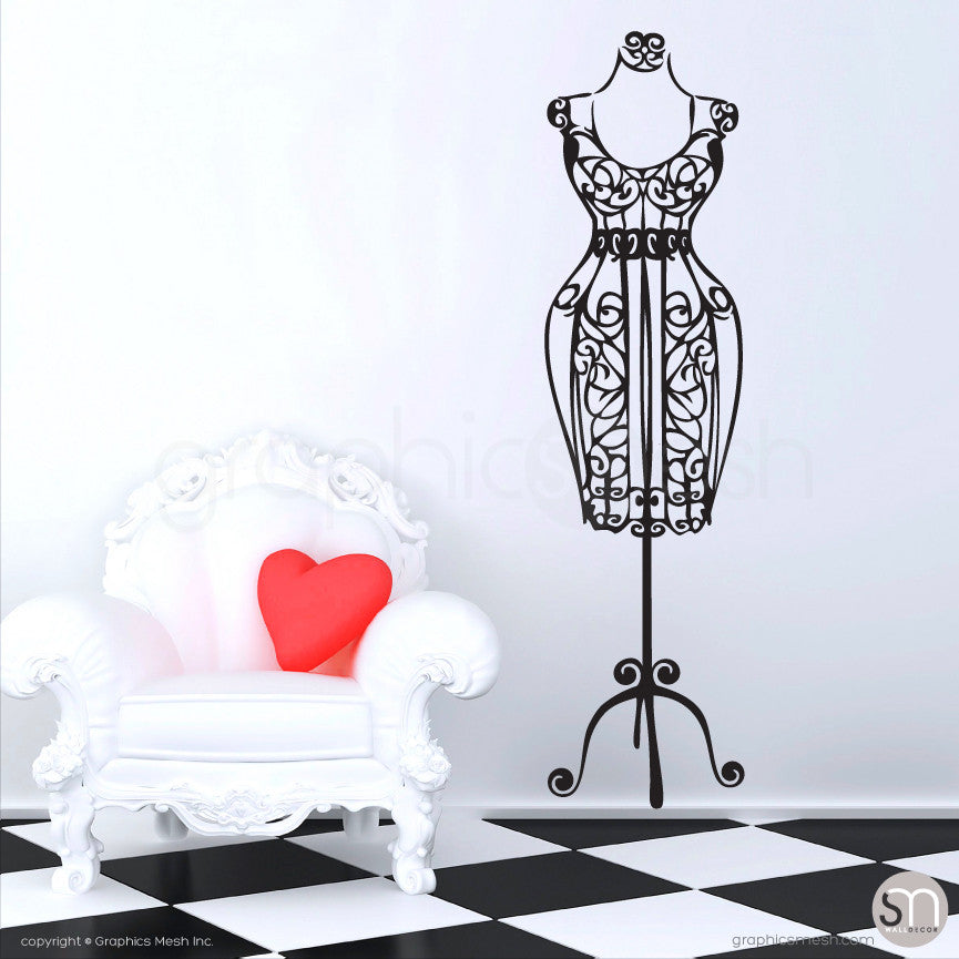 SILHOUETTE DRESS FORM decorative mannequin black