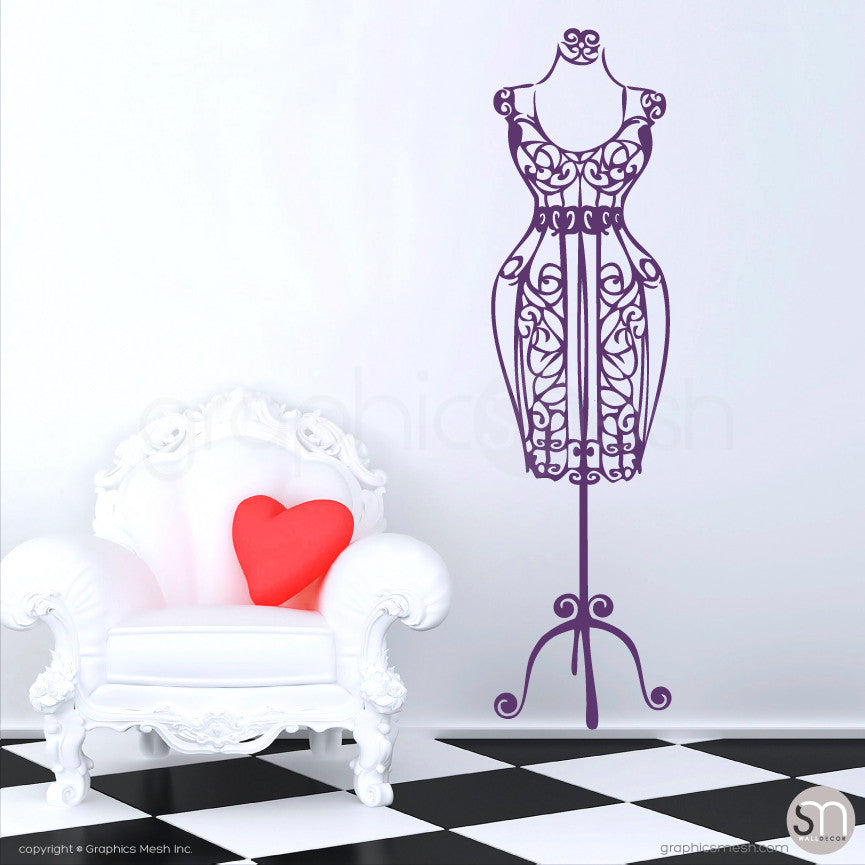 SILHOUETTE DRESS FORM decorative mannequin violet