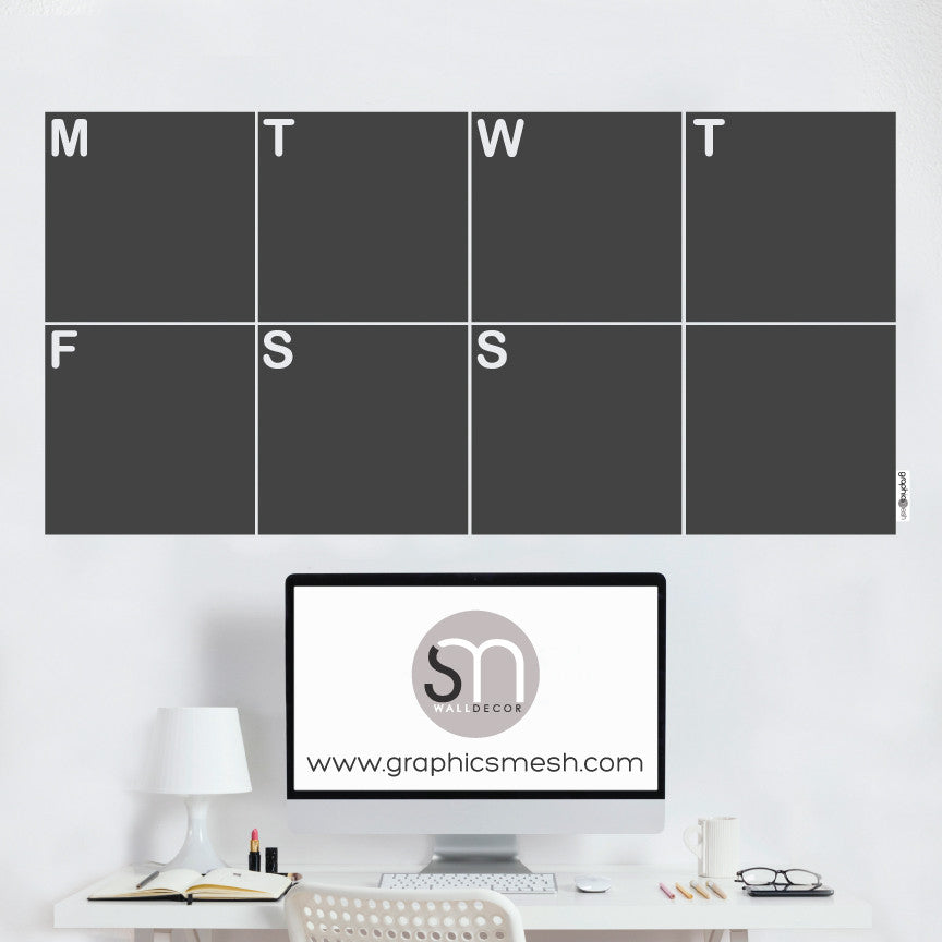 WEEKLY CALENDAR - CHALKBOARD DECALS clean