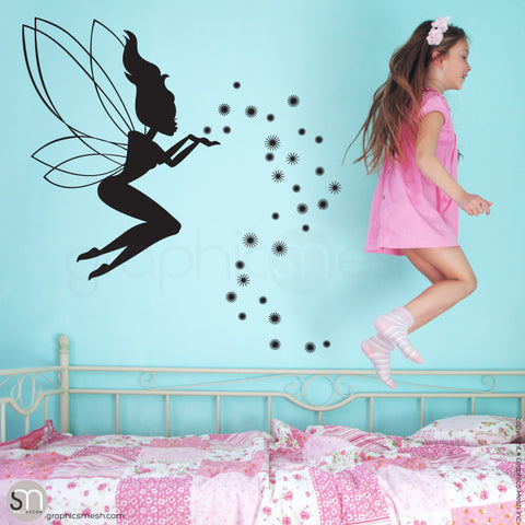 FAIRY WITH MAGIC DUST - Wall decal black