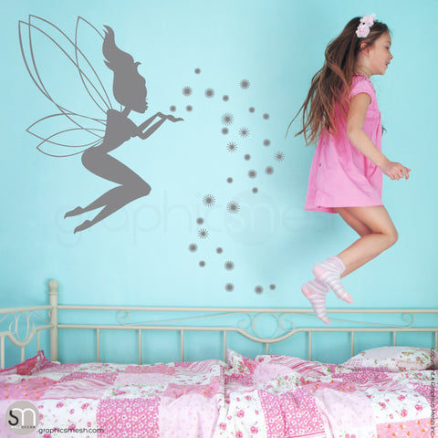 FAIRY WITH MAGIC DUST - Wall decal grey