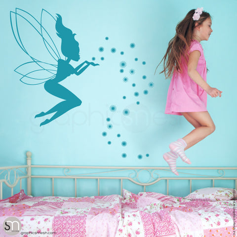 FAIRY WITH MAGIC DUST - Wall decal teal