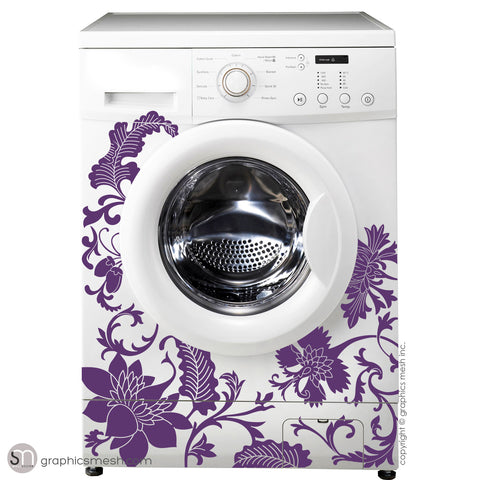 FLORAL WASHER DECOR - Domesticated Wall Decals violet