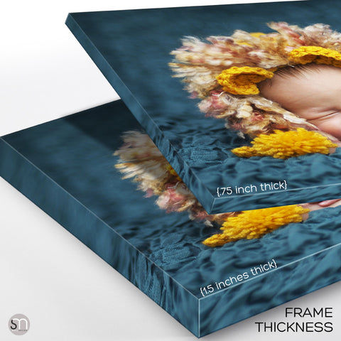 CUSTOM PRINTED CANVAS frame thickness