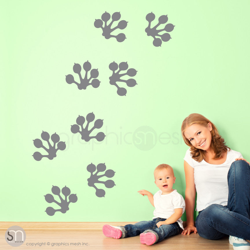 GECKO PAW PRINTS - wall decals