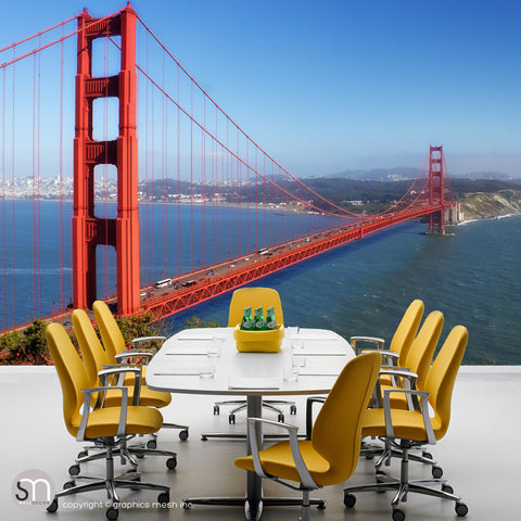 GOLDEN GATE BRIDGE - Wall Mural office