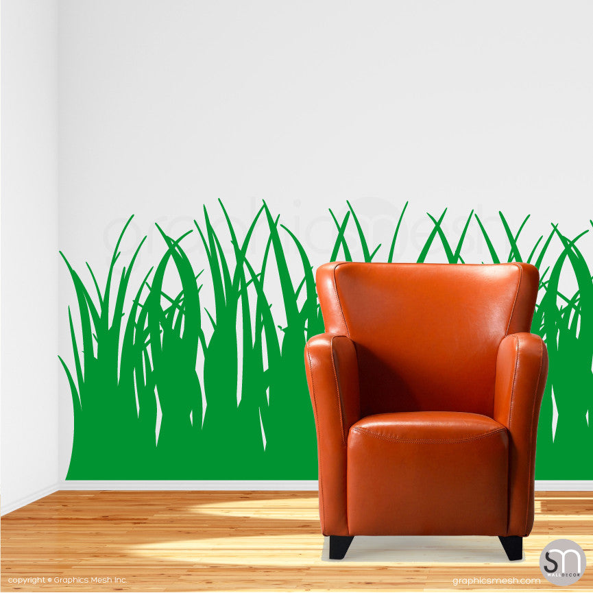 TALL GRASS - Wall Decals grass green