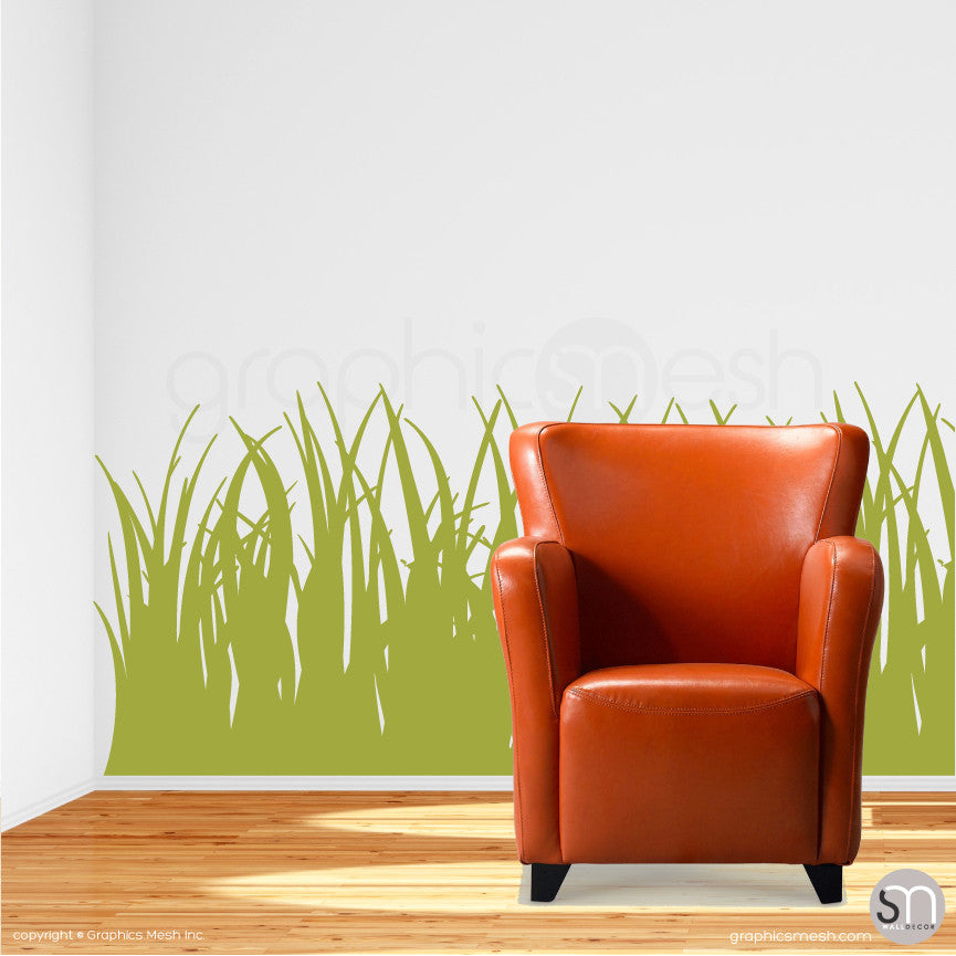 TALL GRASS - Wall Decals olive  sc 1 st  GraphicsMesh & TALL THICK GRASS Wall Decals - Various sizes and colors | GraphicsMesh