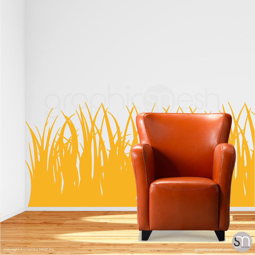 TALL GRASS - Wall Decals golden yellow