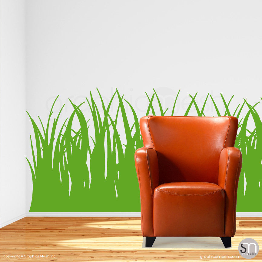 TALL GRASS - Wall Decals lime