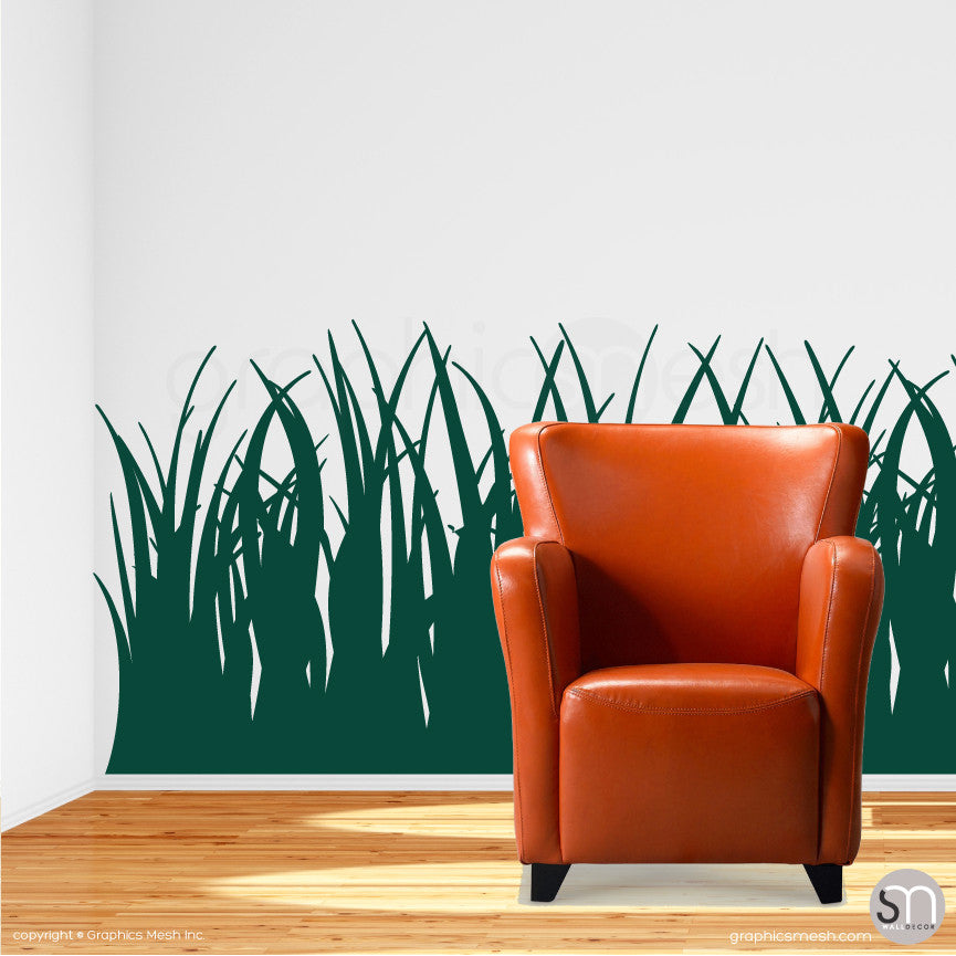 TALL GRASS - Wall Decals dark green