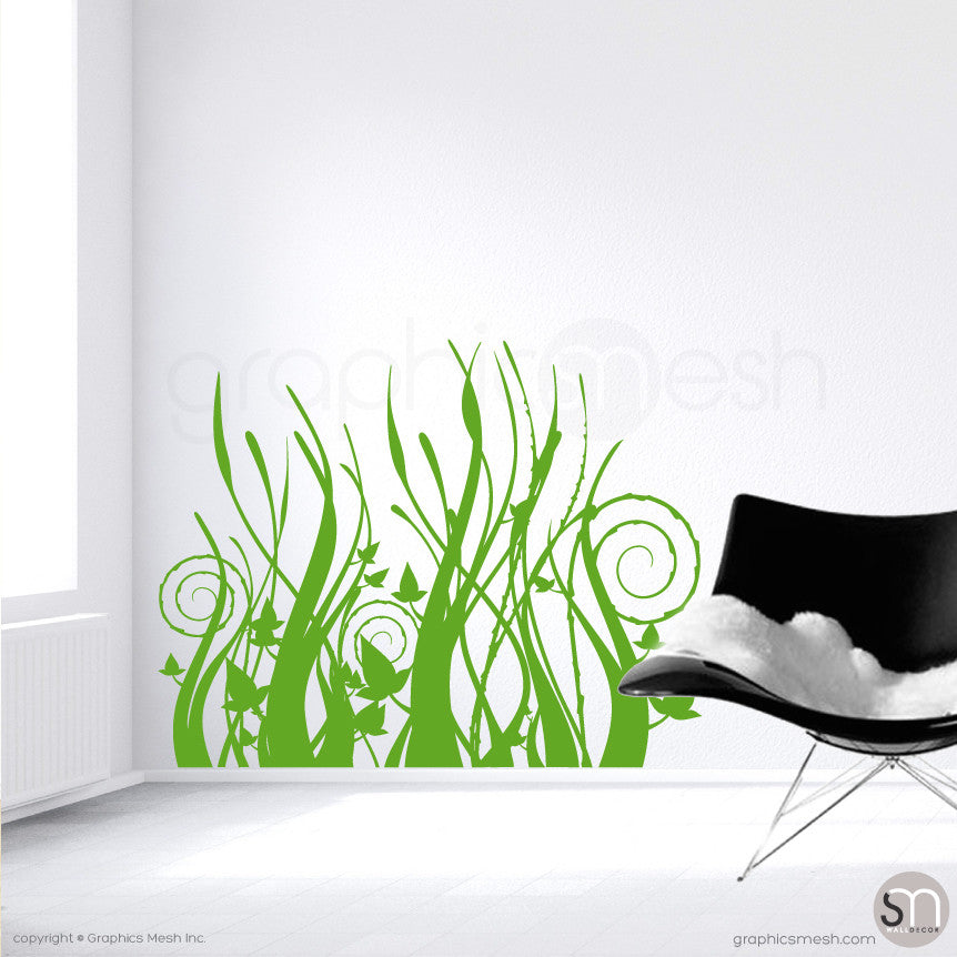 TRIBAL TALL GRASS Wall Decals Various Sizes And Colors - Wall decals grass