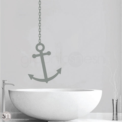 ANCHOR ON CHAIN - Wall decal grey