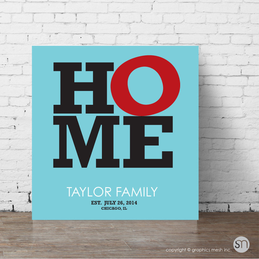 HOME PERSONALIZED - WALL ART aqua print