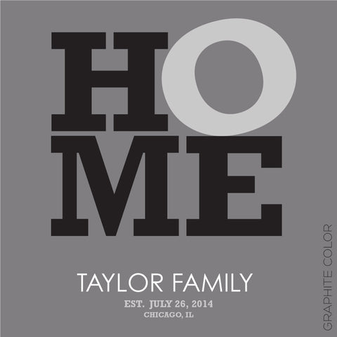 HOME PERSONALIZED - WALL ART graphite color