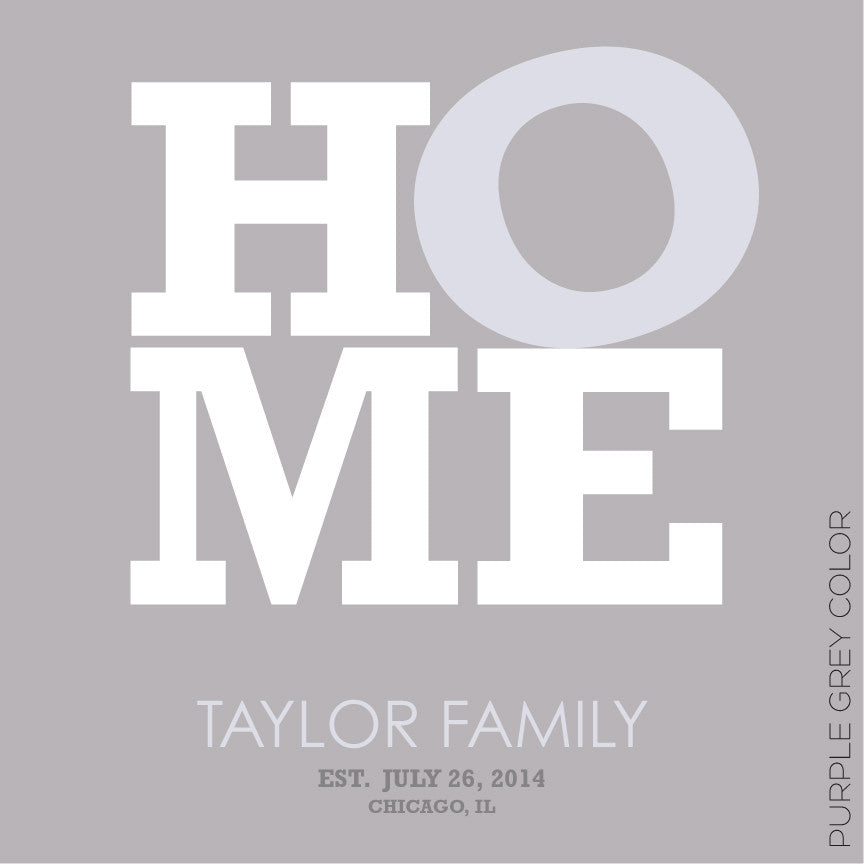 HOME PERSONALIZED - WALL ART grey
