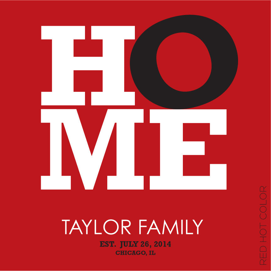 HOME PERSONALIZED - WALL ART red color