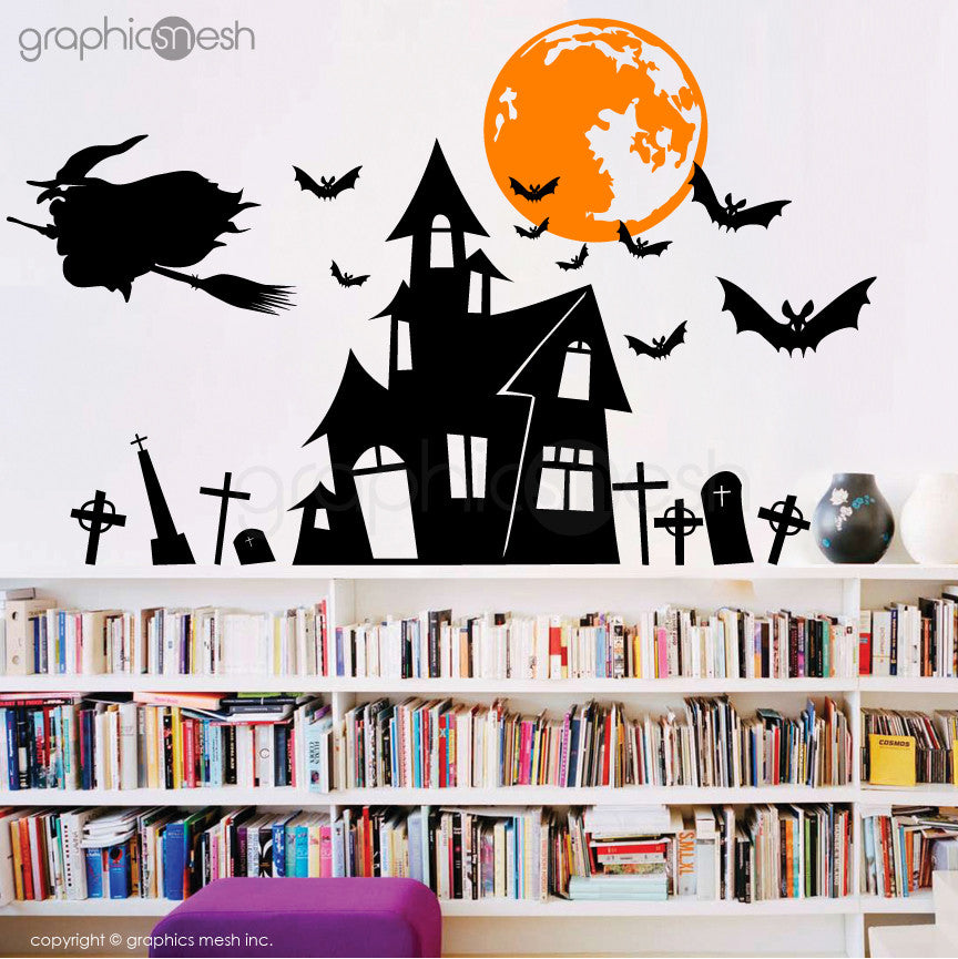 Halloween Witchu0027s Hunted House   Holiday Wall Decals