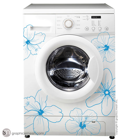 Hibiscus Flower Washer Decor Domesticated Wall Decals