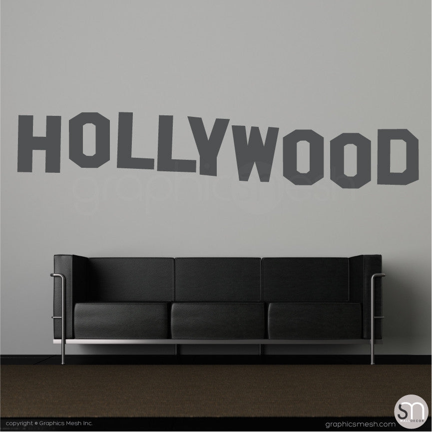 HOLLYWOOD SIGN - Wall decals dark grey