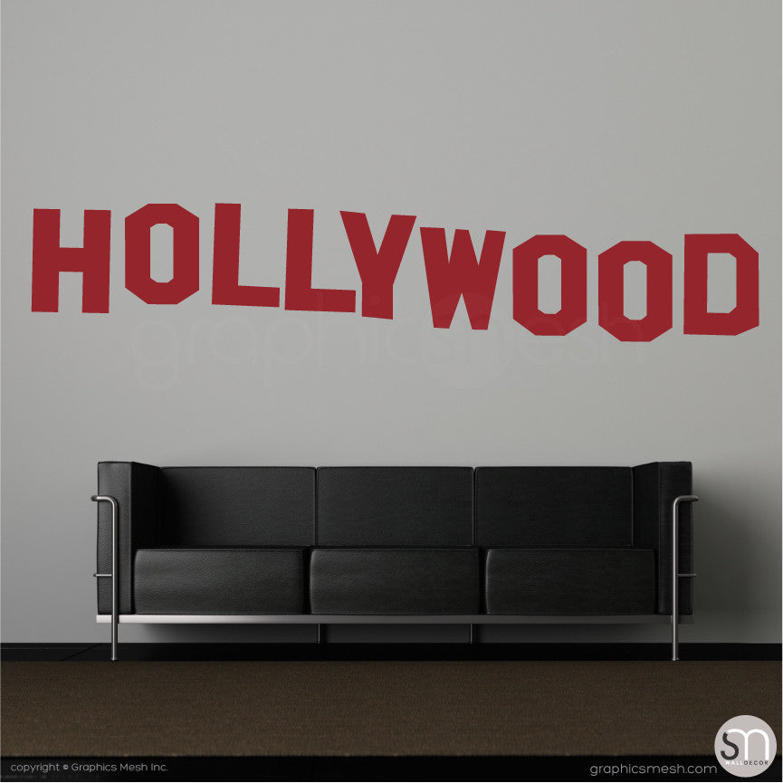 HOLLYWOOD SIGN - Wall decals dark red