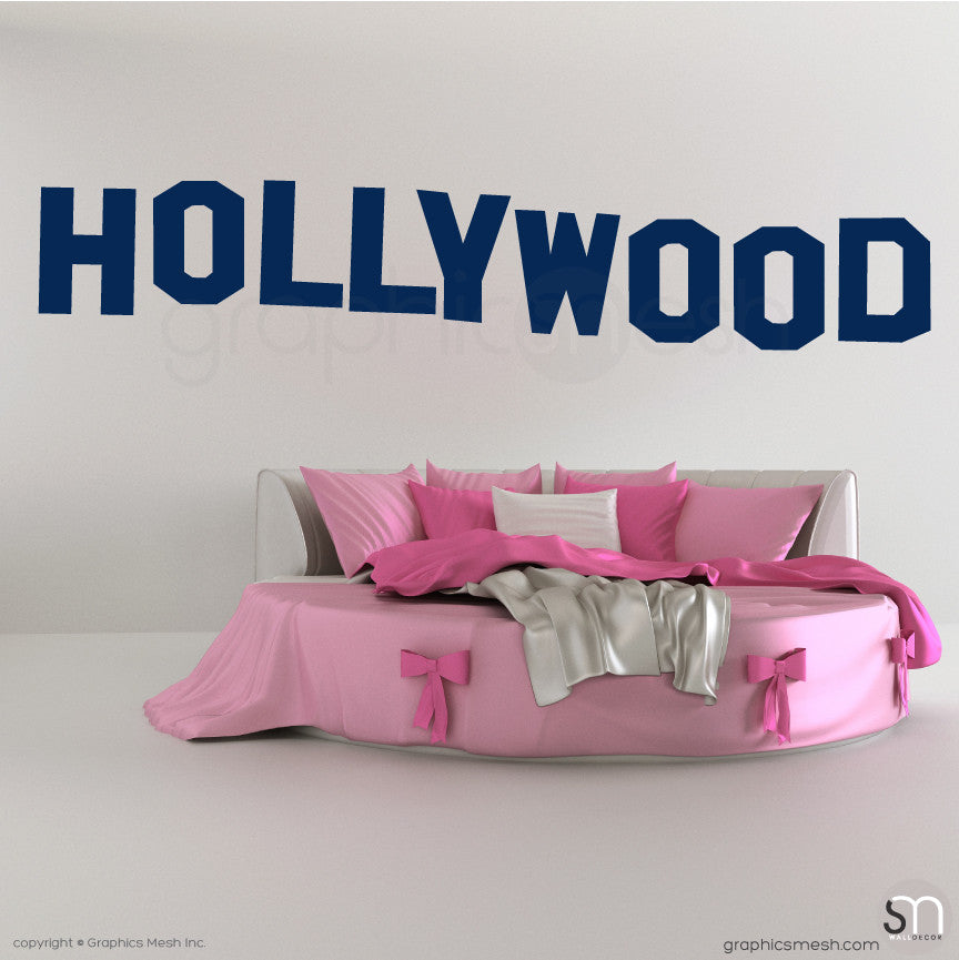 HOLLYWOOD SIGN - Wall decals navy