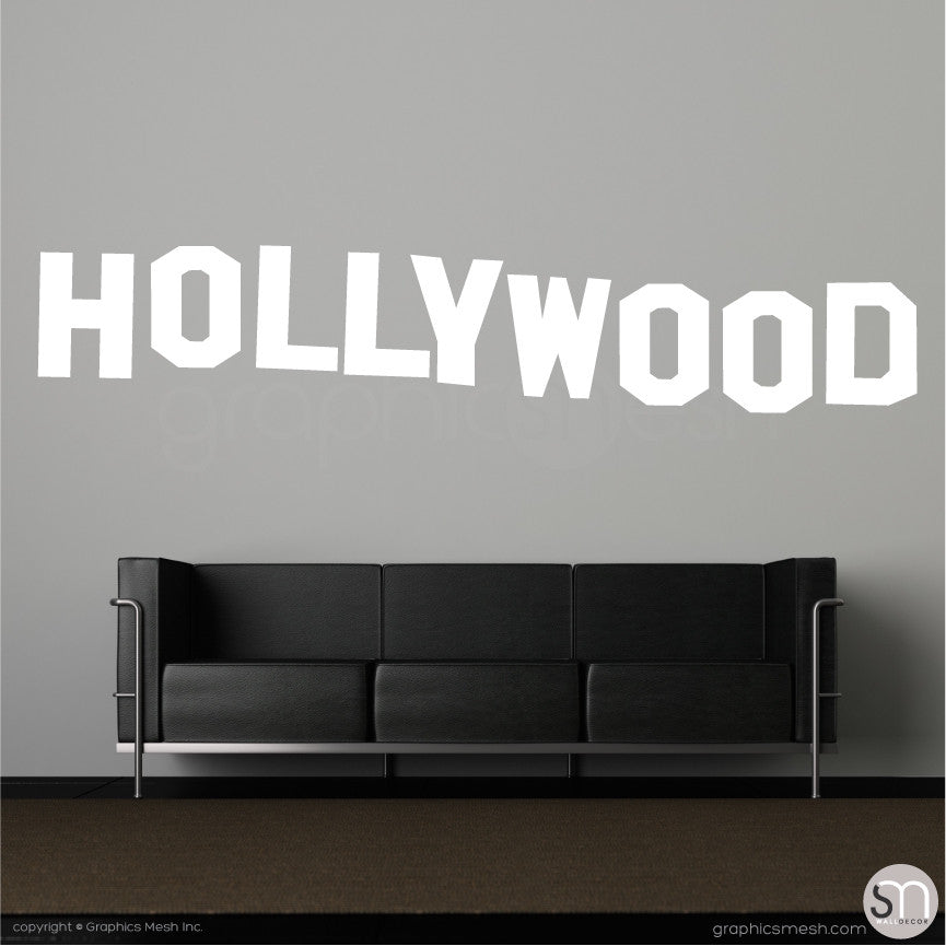 HOLLYWOOD SIGN - Wall decals white