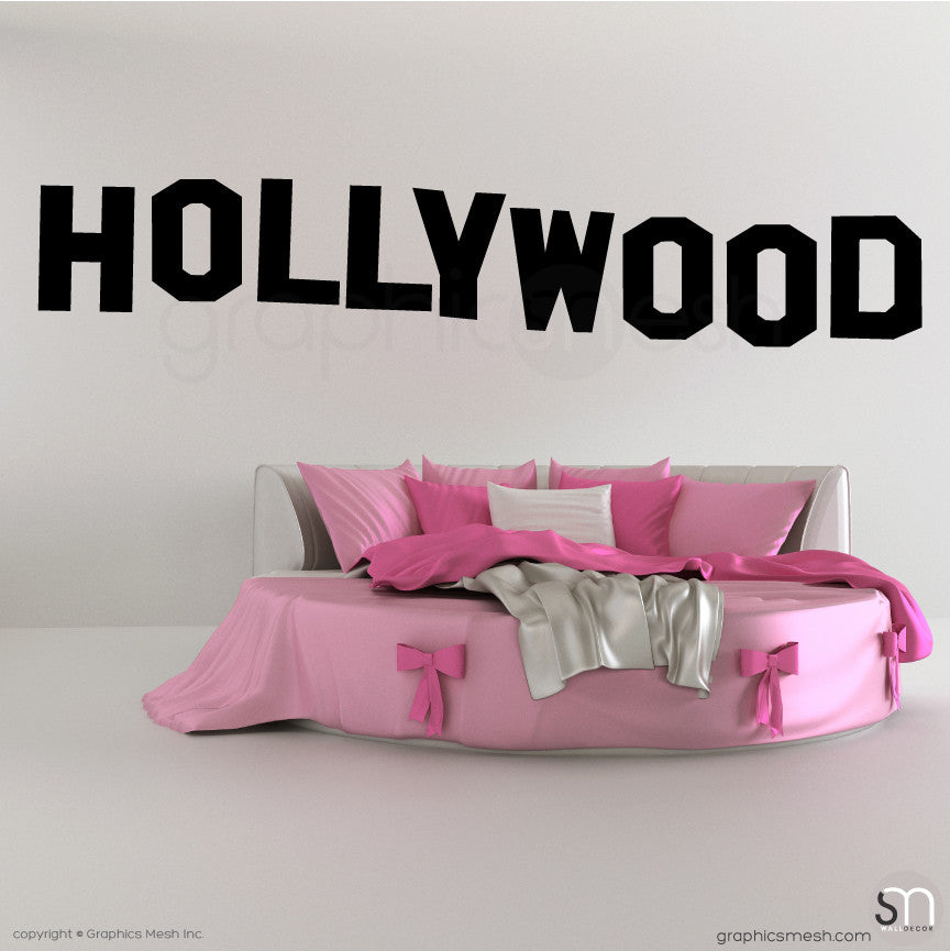 HOLLYWOOD SIGN - Wall decals black