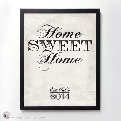 """HOME SWEET HOME"" - PERSONALIZED ART PRINT"