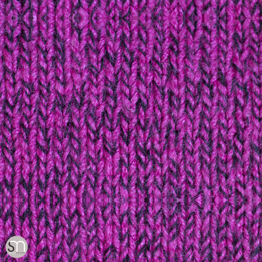 HOT PINK SWEATER -  Peel & Stick Realistic Texture Wallpaper
