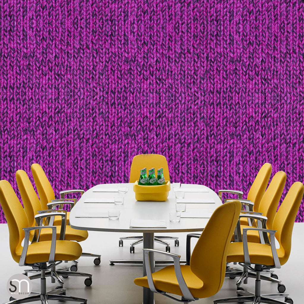 HOT PINK SWEATER -  Peel & Stick Realistic Texture Wallpaper office