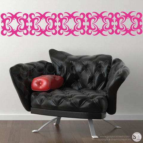 IRONHEAD TRIBAL BORDER - Wall Decals hot pink
