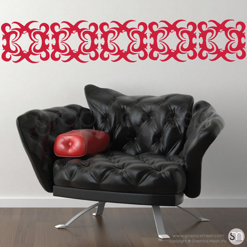 IRONHEAD TRIBAL BORDER - Wall Decals red