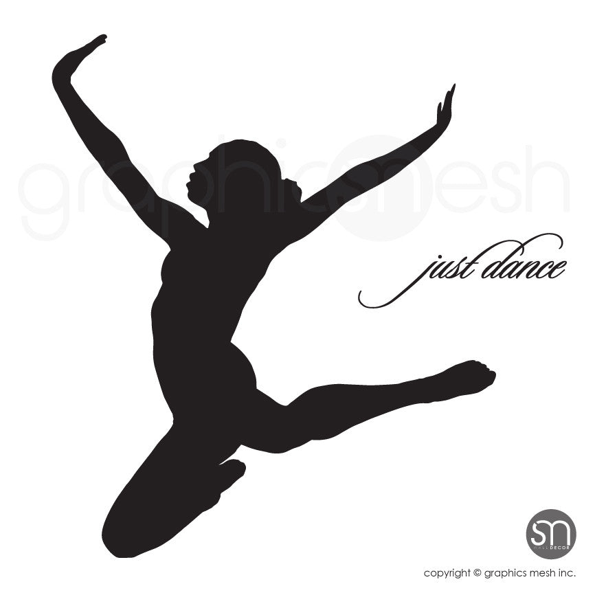Just Dance Dancer silhouette wall decals