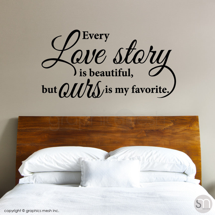 Love Story Decorative wall quote BLACK