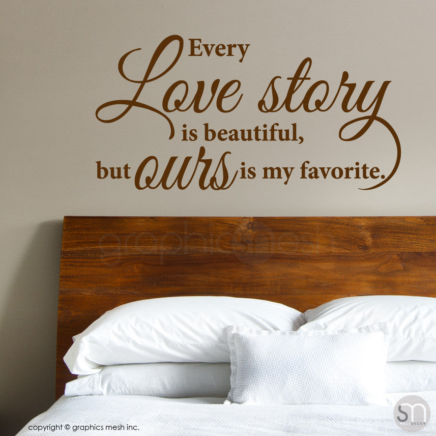 Love Story Decorative wall quote Brown