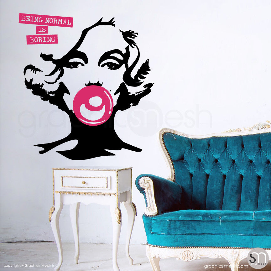 Marilyn Monroe With Bubble Gum Wall Decals.  Part 85