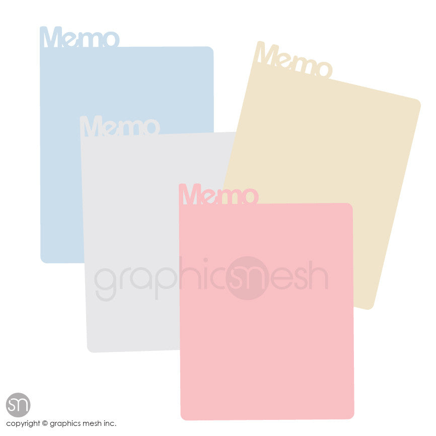LARGE MEMO DRY ERASE various colors
